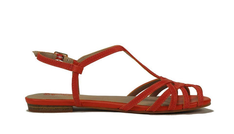 Seychelles for Women: Cant Trust Myself Melon Leather Sandal