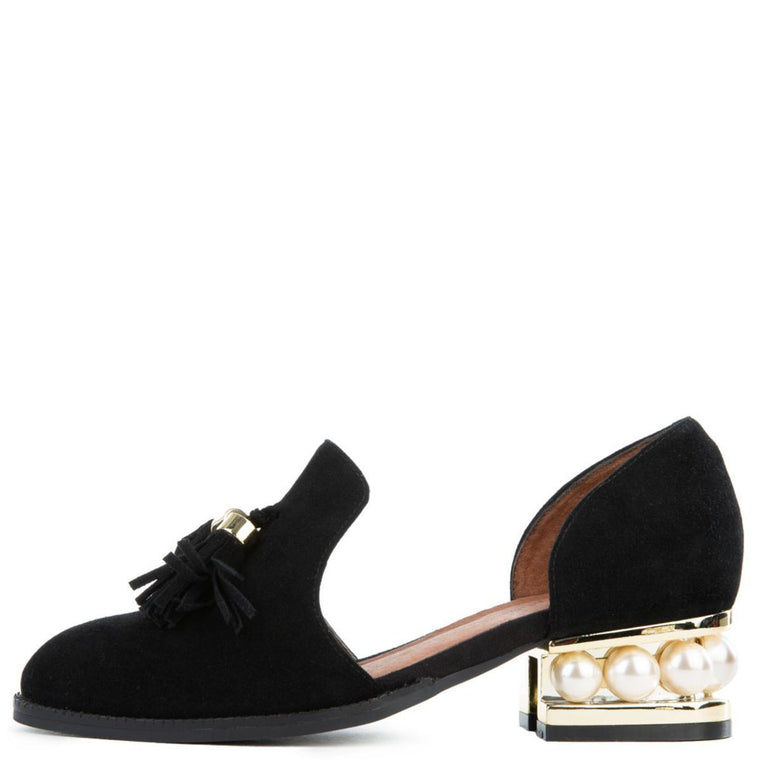 Women's Civil Black Suede Heel