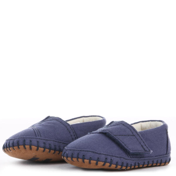 Tiny Toms: Crib Alpargata Navy Canvas Flats