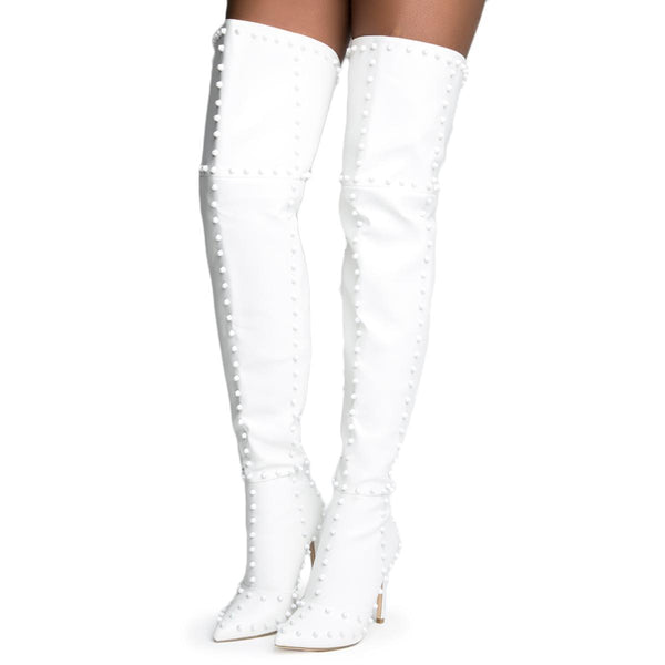 Cape Robbin Mini-33 White Women's Boots