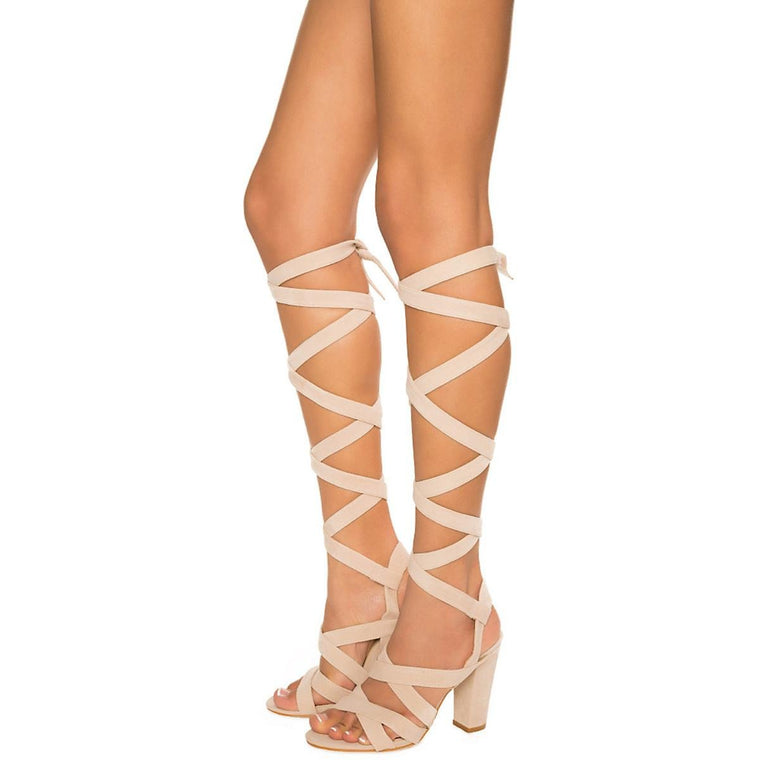 Women's May-1 Lace-Up Sandal Natural Strappy Sandals