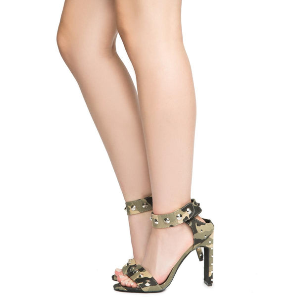 Cape Robbin Jen-17 Women's Army High Heel