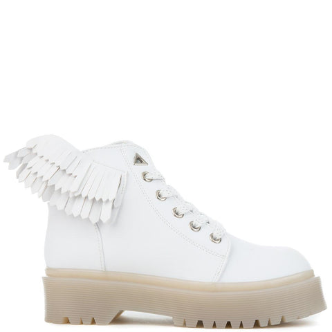 YRU Wings Slayr Angyl Women's White Boots