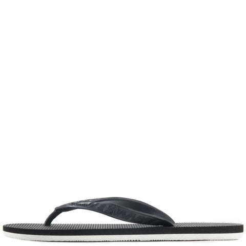 Hayn for Men: Black Lava Sandals