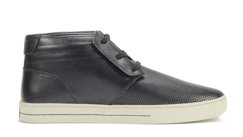Clae: McQueen Black Perf Leather Sneaker
