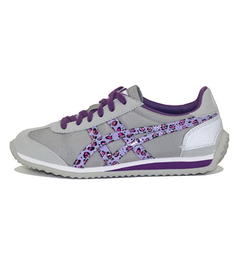 Onitsuka Tiger for PreSchool: California 78 PS Light Grey/Purple Leopard Sneakers
