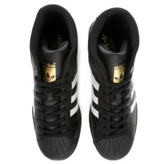 adidas Unisex: Pro Model Core Black/White Mid-Top Sneakers