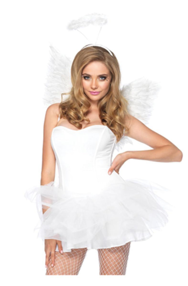 2pc. Angel Accessory Kit  includes wings and halo in WHITE