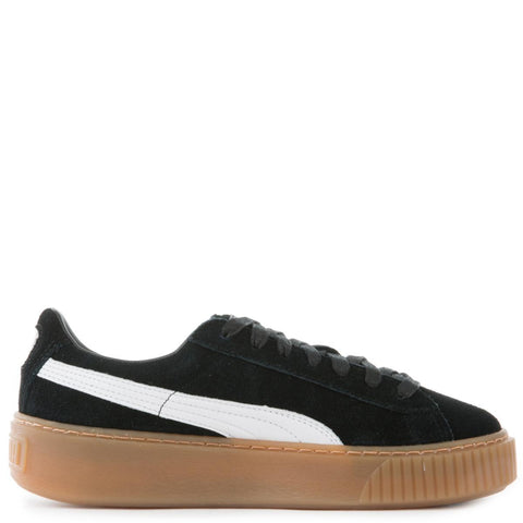 Women's Platform Core Puma Black-Puma White Suede Sneakers
