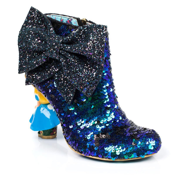 Irregular Choice Alice in Wonderland Collection: Who in the World Am I? Blue Heels Boots