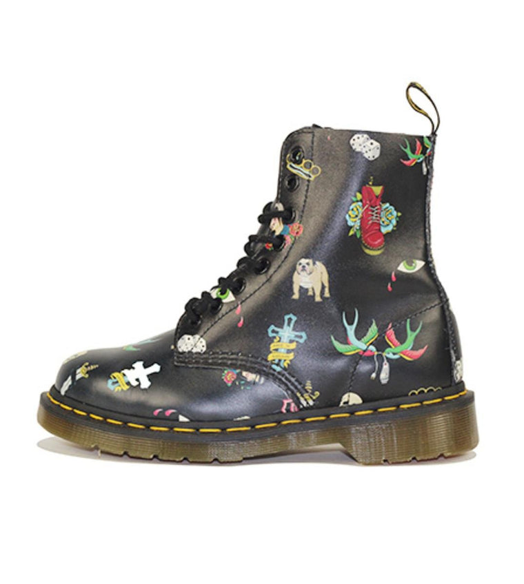 Dr. Martens for Women: Pascal Skins Tattoo Softy Boots