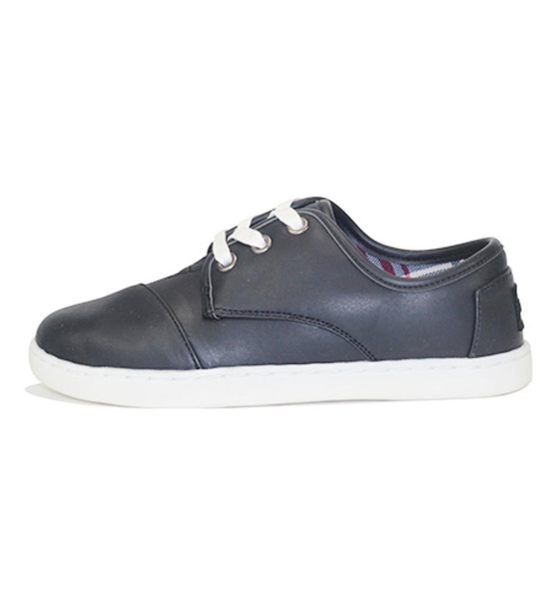 Toms for Kids: Paseo Black Synthetic Leather