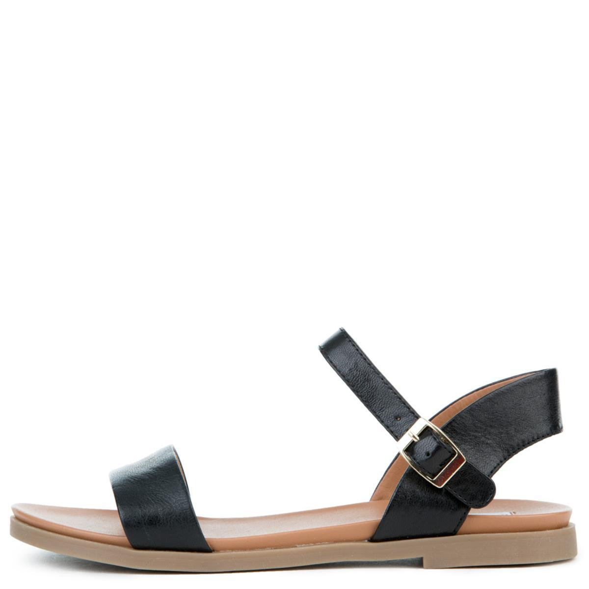 Women's Dina Black Leather Sandals