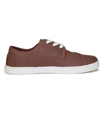 Toms for Kids: Paseo Brown Synthetic Leather