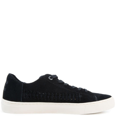 Lenox in Black Deconstructed Suede/Woven Panel
