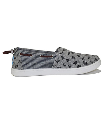 Toms for Kids: Bimini Gray Chambray Skulls