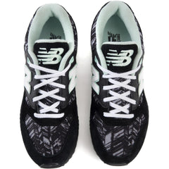 New Balance for Women: 530 Summer Utility Black White and Seafoam Sneakers