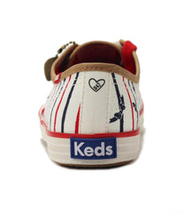 Keds Taylor Swift Collection for Women: CH TS Bow Stripe Cream Sneaker