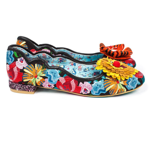 Irregular Choice Alice in Wonderland Collection: Talk To The Flowers Flats
