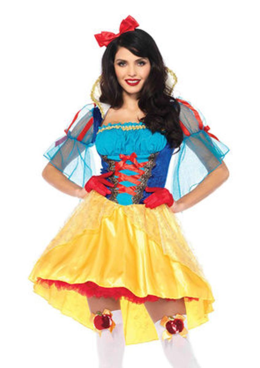 2PC.Storybook Snow White,high/low dress and matching hair bow in MULTICOLOR