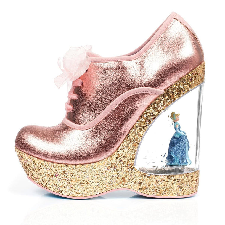 Irregular Choice Cinderella Collection: Home Before Twelve Copper Wedges