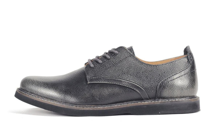 JD Fisk for Men: Jonas Dark Grey Oxford Shoe Oxford