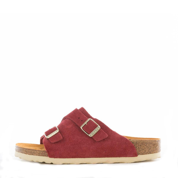 Birkenstock for Women: Zurich Red Suede Sandals