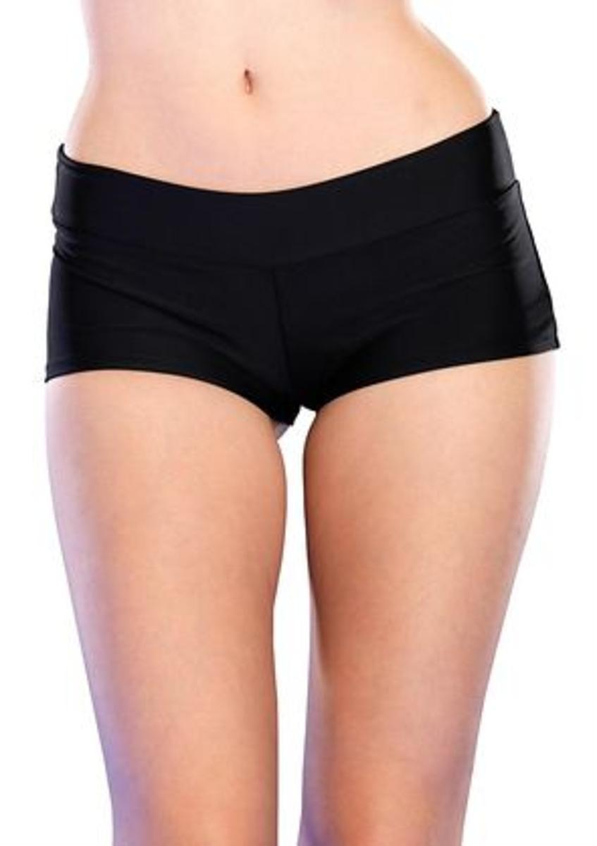 Spandex boy shorts short. in BLACK