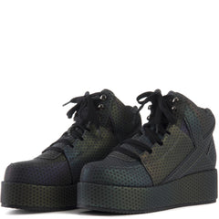 Y.R.U. for Women: Qozmo Low Key Reflective Platform Sneaker