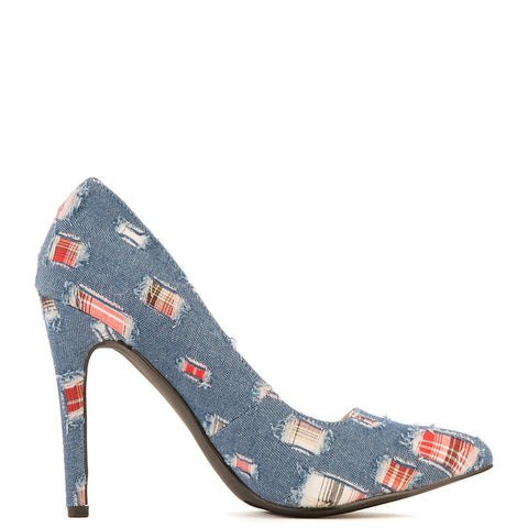 Women's Tiarra-1 Denim High Heel Pump Blue Pump Shoes