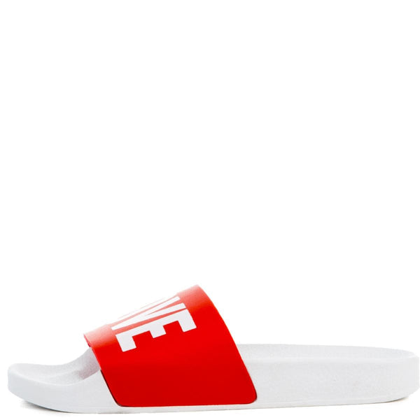 The LOVE Slides in White and Red