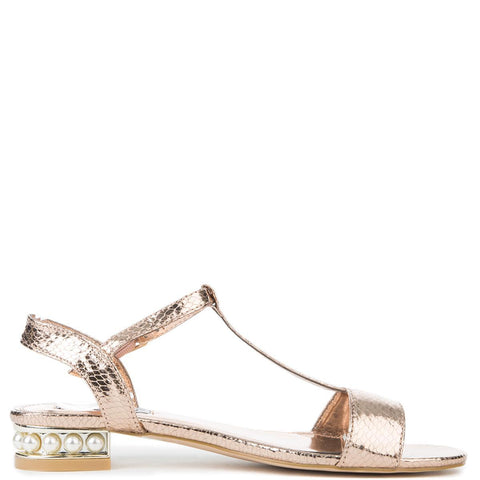 Cape Robbin Ariel-1 Women's Rose Gold Sandal