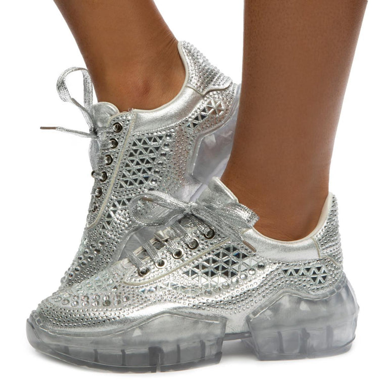 Crystal-6 Lace Sneakers