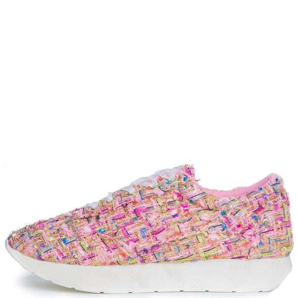 Cape Robbin Fellini-1 Women's Pink Sneakers