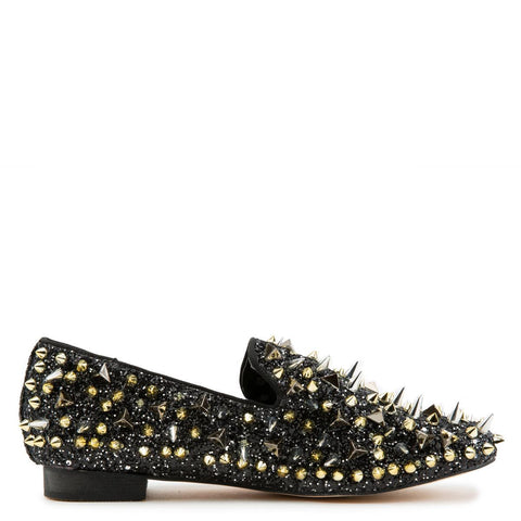 Assasin Glitter Studs Loafers
