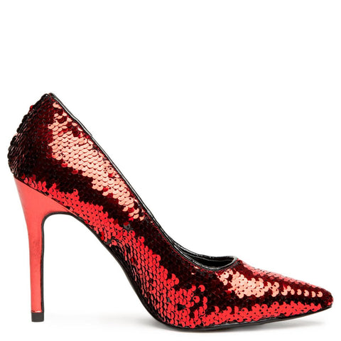 Cape Robbin Kitana-45 Women's Red High Heel