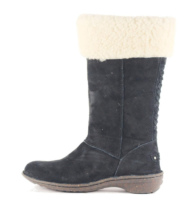 UGG Australia for Women: Karyn Black Cuff Sheepskin Boot