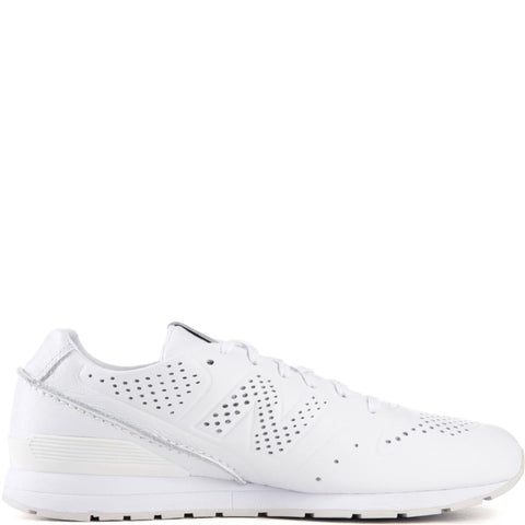 New Balance for Men: 696 Deconstructed White Leather Running Shoes