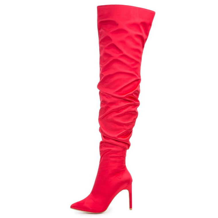Cape Robbin Kitana-6 Women's Red High Heel Boot