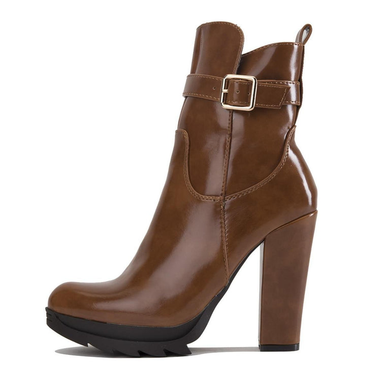 Women's Walnut-1 High Heel Ankle Boot