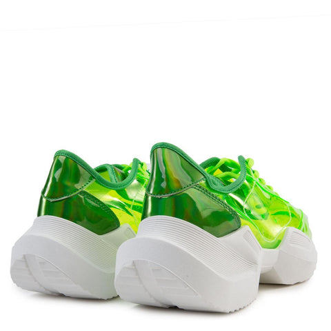 Nessa-01 Clear Sneakers