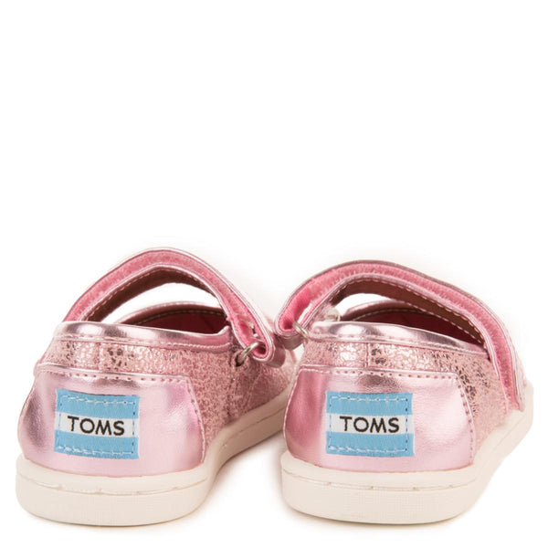 Tiny Toms: Pink Metallic Foil Mary Jane Flats