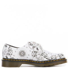 Unisex 1461 White Black Bandana Oxfords