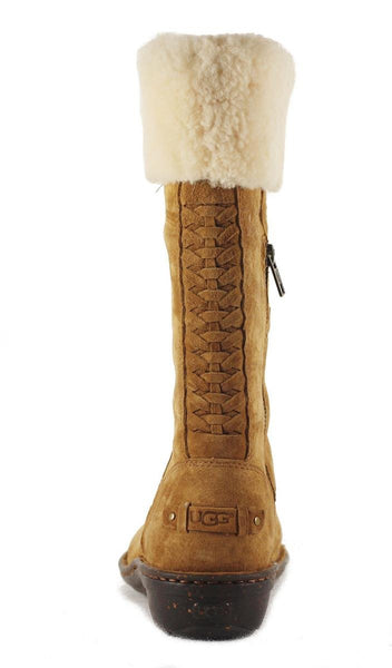 UGG Australia for Women: Karyn Chestnut Cuff Sheepskin Boot
