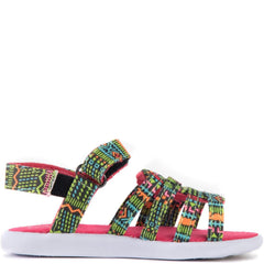 Tiny Toms: Huarache Black Textile Tribal Geo Sandals