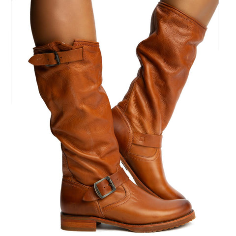 Veronica Slouch Whiskey Boots