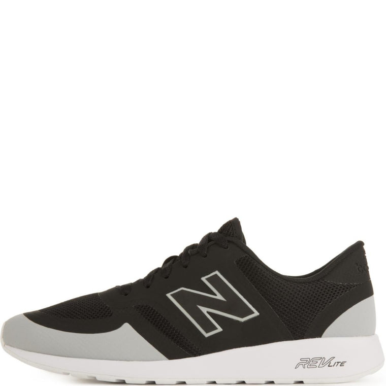 New Balance Unisex: 420 Re-Engineered Black/Light Grey Running Shoes