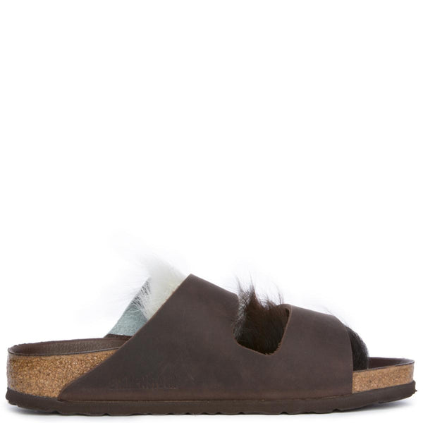 Women's Olied Leather Brown Sandal
