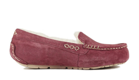 UGG Australia for Women: Ansley Plum Wine White Slipper