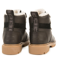 Toms for Women: Summit Black Leather Waterproof Boots